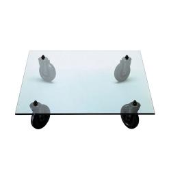 Tavolino con ruote 100x100x25