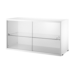 String Cabinet Slinding Doors Display 78 x 30 x 42 cm