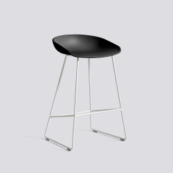 About A Stool 38 - AAS38 - H 64 cm - white legs