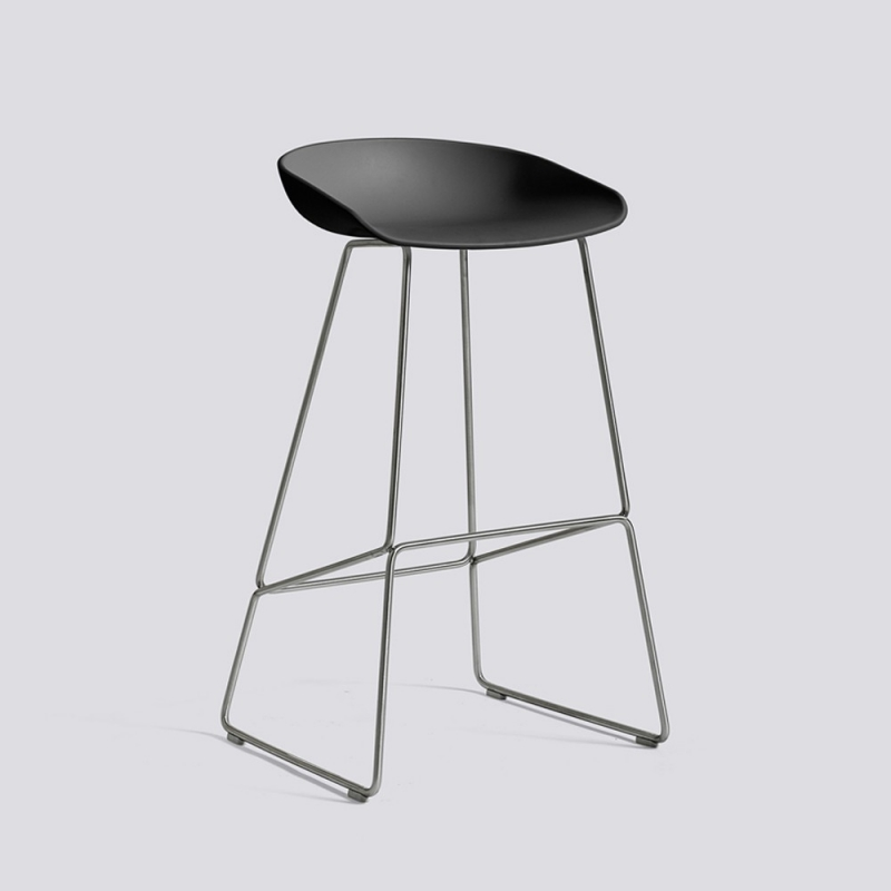 About A Stool 38 - AAS38 - H 64 cm - stainless steel legs