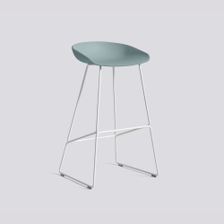 About A Stool 38 - AAS38 - H 74 cm - white legs