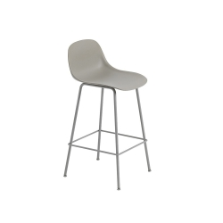 Fiber Barstool W. Backrest Tube base H. 65 cm