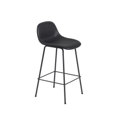Fiber Barstool W. Backrest Tube base H. 65 cm Silk