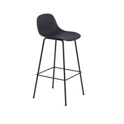 Fiber Barstool W. Backrest Tube base H. 75 cm