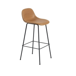 Fiber Barstool W. Backrest Tube base H. 75 cm Silk