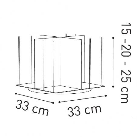 Krossing Rotante 33x33 modulo extra