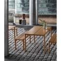 Linear Steel Bench 110 cm