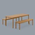 Linear Steel Table 140x75