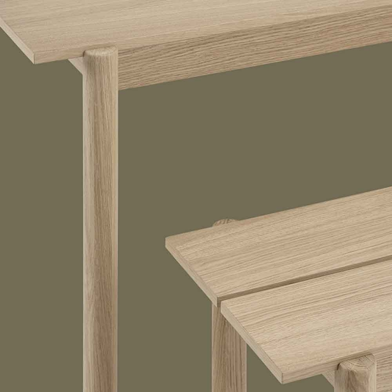 Linear Wood Bench 110