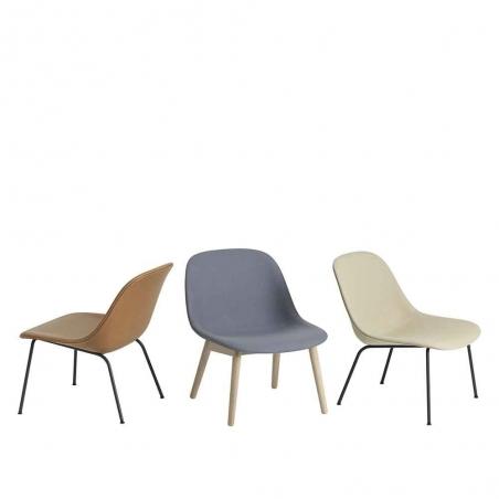 Fiber Lounge Chair Wood Base