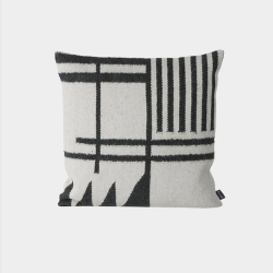 Kelim Cushion - Black Lines