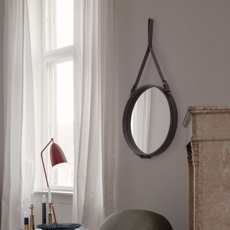 Adnet Wall Mirror, Circular,  Ø70
