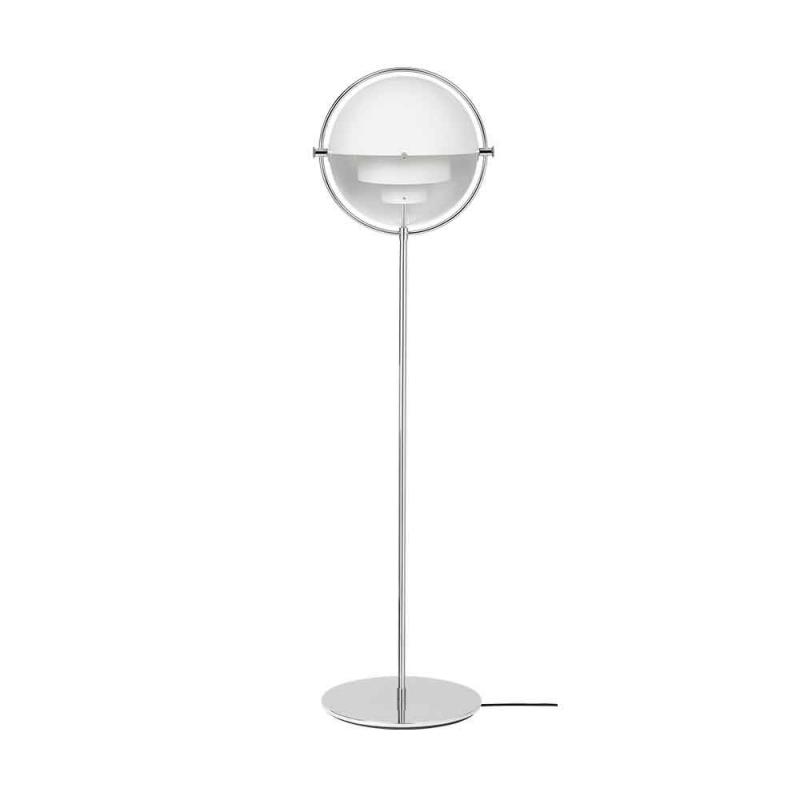 Multi-Lite Floor Lamp,Chrome Base