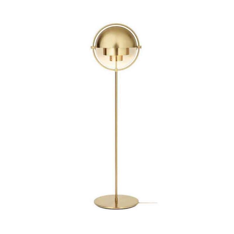 Multi-Lite Floor Lamp, Brass Base