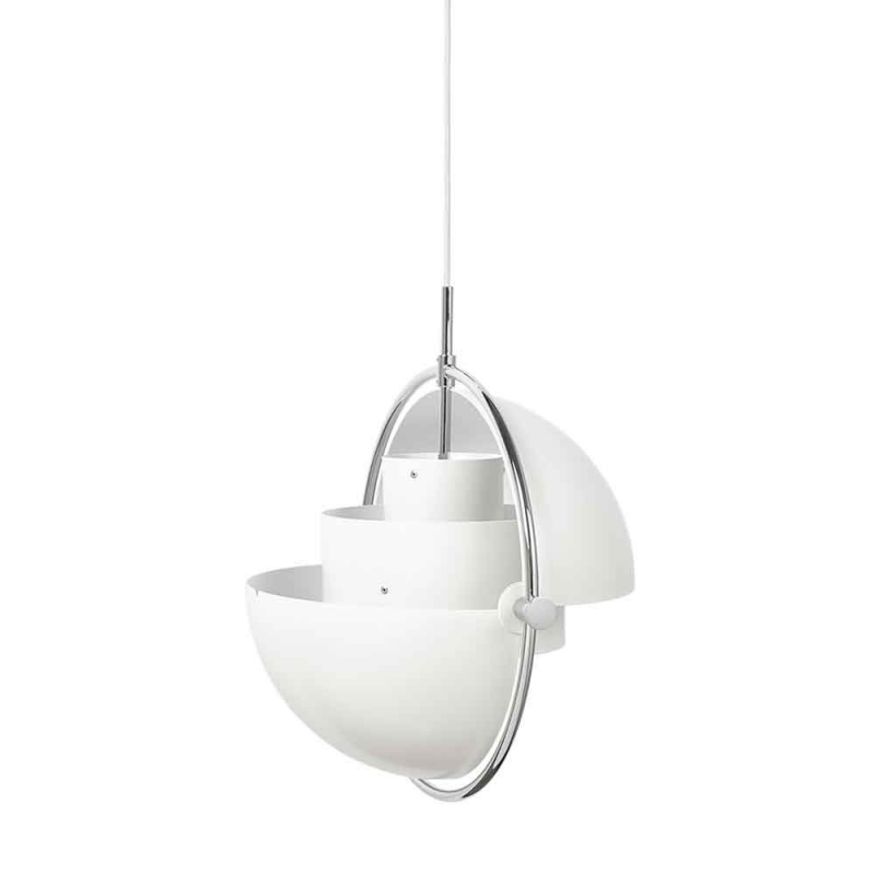 Multi-Lite Pendant Lamp, Chrome Base