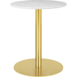 Gubi 1.0 Dining Table, Round, Brass Base