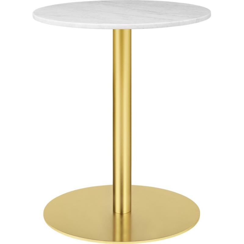 Gubi 1.0 Dining Table, Round, Brass Base