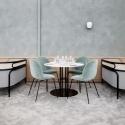 TS Column Dining Table- Round, Ø80, Black Base
