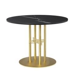 TS Column Dining Table- Round, Ø80, Brass Base