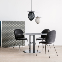 TS Column Dining Table- Round, Black Base