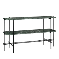 TS Console, 120X30X72, Black Base, 2 Racks