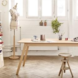 Aise Table, Wood Leg, 90x140