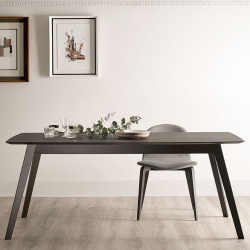 Aise Table, Wood Legs, Rounded Corners, 163x95