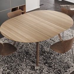 Aise Round Table, Extensible, Ø110\154
