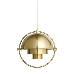 Multi-Lite Pendant Lamp, Brass Base