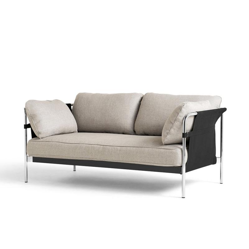 Can 2 Seater_ Chromed Steel Leg