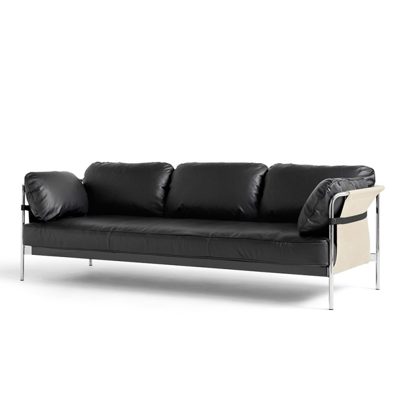 Can 3 Seater_ Chromed Steel Leg