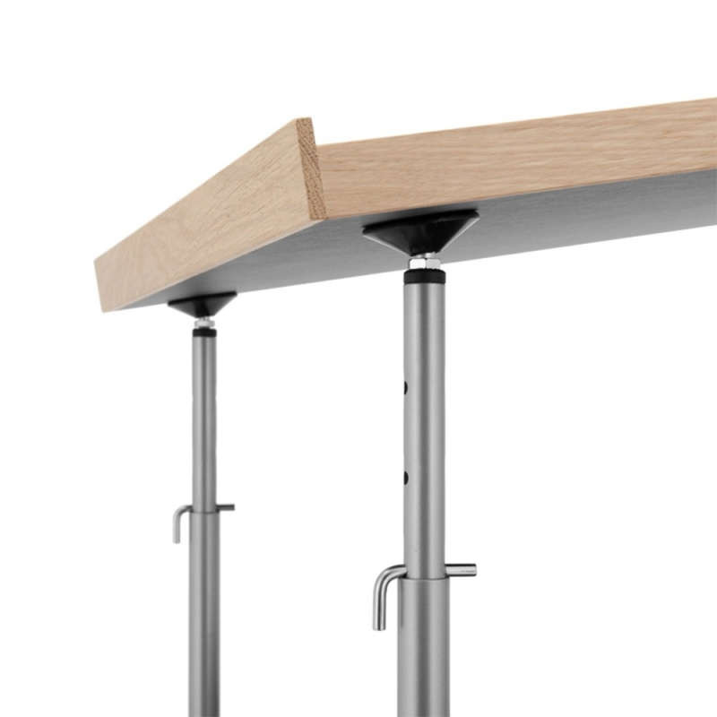 Milla 700 high desk_Chrome Legs