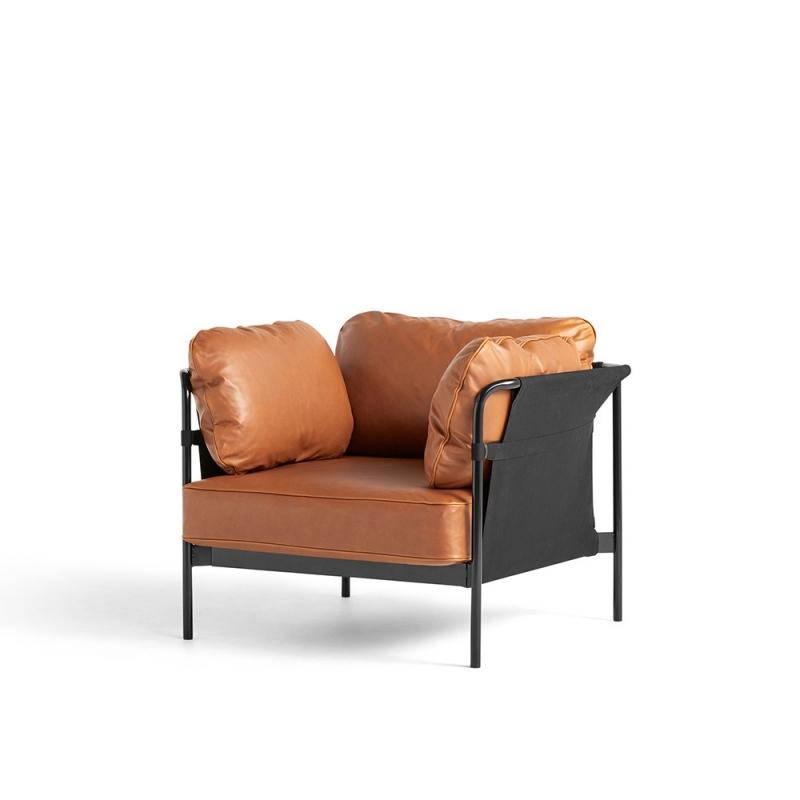 Can 1 Seater_ Black Steel Leg