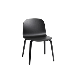 Visu wide chair wood base
