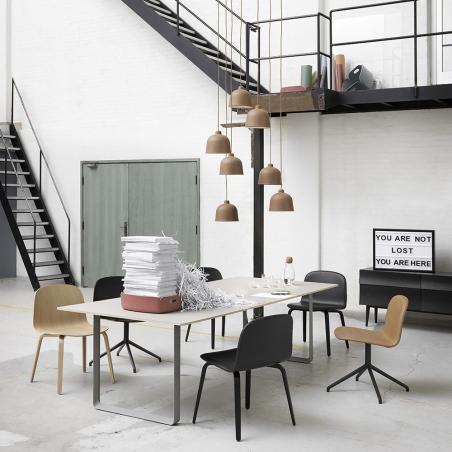 Visu wide chair wood base