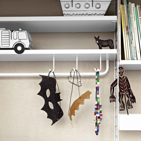 Rods for metal shelves