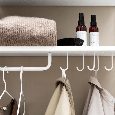 Hooks for metal shelves